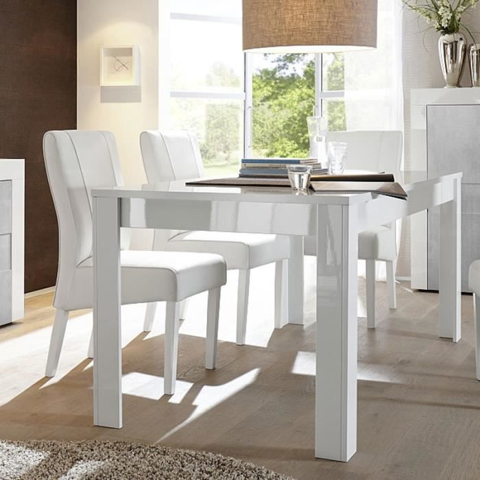 Table Blanc Laque Extensible