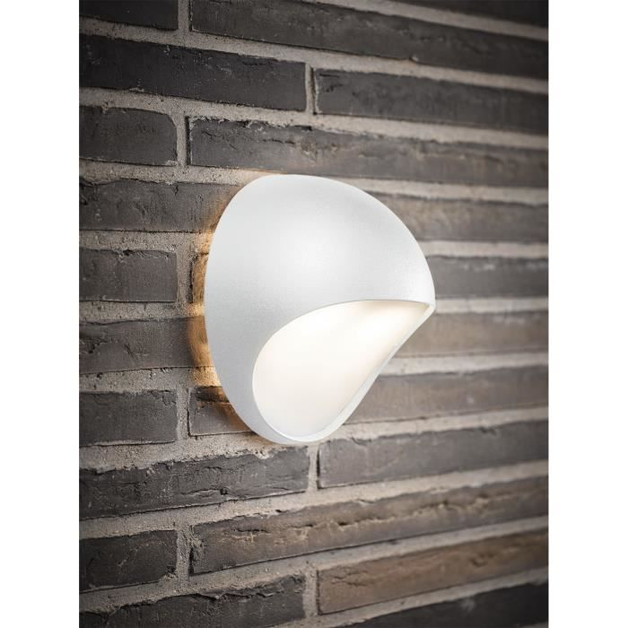 Carburant blanc courbe dome led exterieur lumiere for Lumiere murale exterieur