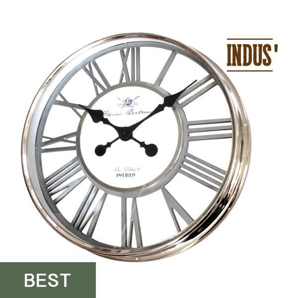 Marron et Blanc emotion 34326 Horloge Charme INDUS DIAMETRE 60 M/étal 4 x 60 x 60 cm