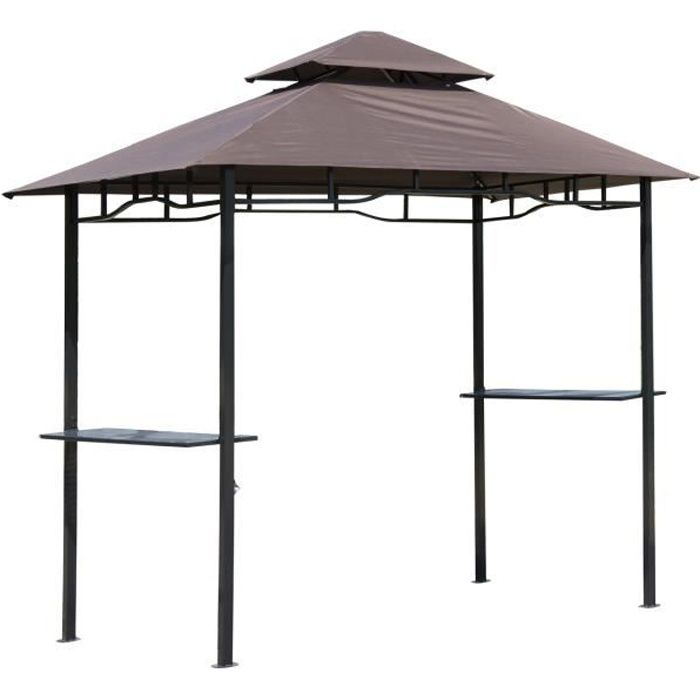 pavillon abri pour barbecue bbq jardin gazebo tonnelle tente de fete party tent metal. Black Bedroom Furniture Sets. Home Design Ideas