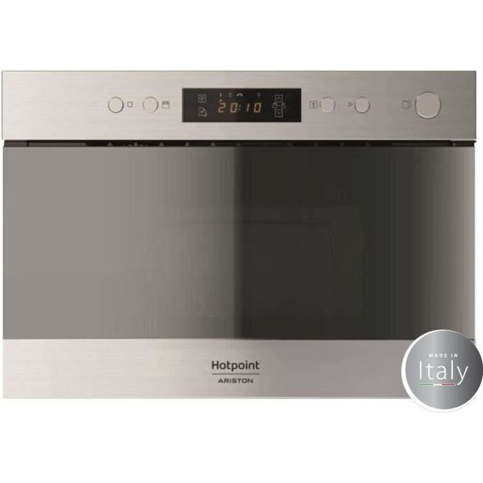 hotpoint mn212ixha - micro ondes encastrable inox - 22l - 750 w