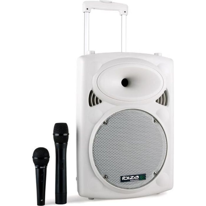 enceinte sono portable bluetooth 25 cm ibiza port10vhf-n