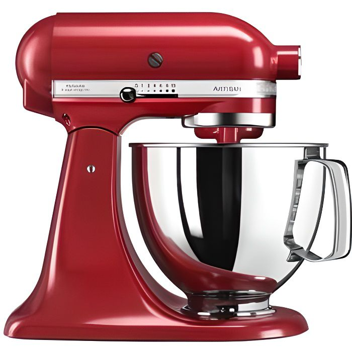 Photo de kitchenaid-5ksm125eer-robot-patissier-artisan-rouge-empire