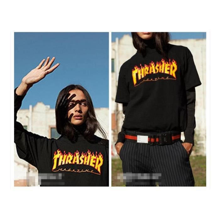 t shirt trasher achat vente t shirt trasher pas cher cdiscount. Black Bedroom Furniture Sets. Home Design Ideas