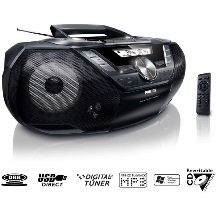 philips az787 lecteur cd k7 usb achat vente radio. Black Bedroom Furniture Sets. Home Design Ideas