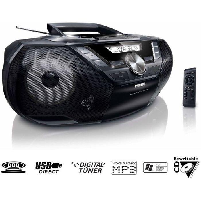 RADIO CD CASSETTE PHILIPS AZ787 Lecteur CD / K7 / USB