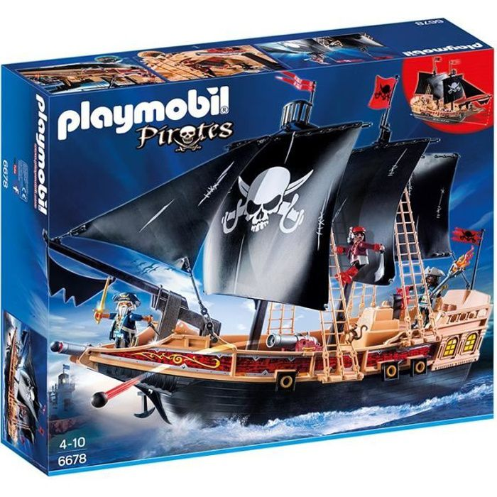 playmobil 6678 bateau pirates des t n bres achat vente. Black Bedroom Furniture Sets. Home Design Ideas