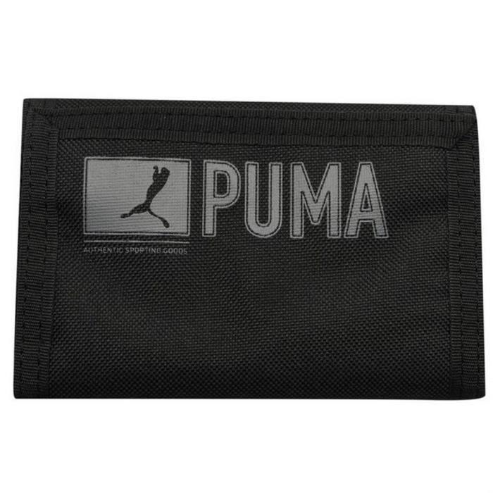 Portefeuille Puma noir ASG Noir Noir - Achat / Vente portefeuille ...