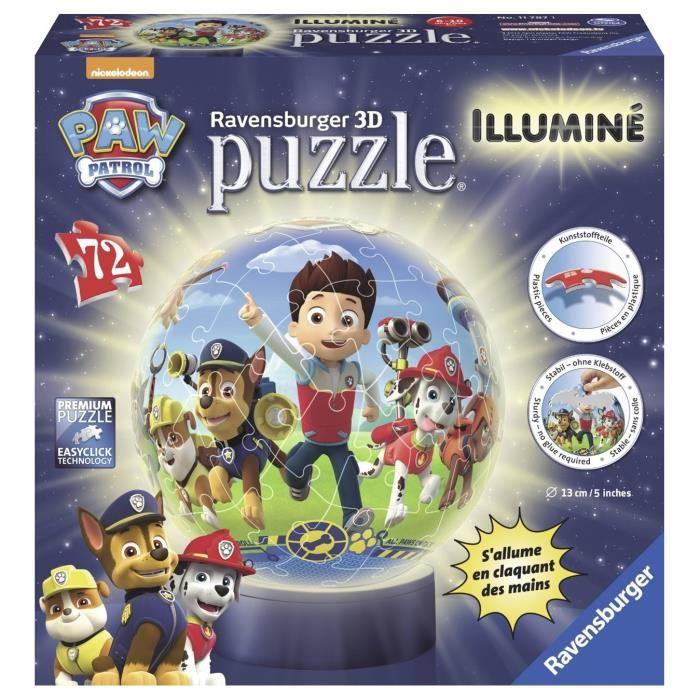 PUZZLE PAT'PATROUILLE Puzzle 3D Illuminé 72 pcs