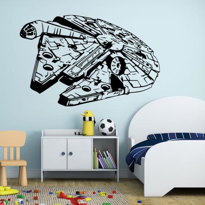 sticker mural star wars sticker art mural d coration chambre amovible stickers muraux pour. Black Bedroom Furniture Sets. Home Design Ideas