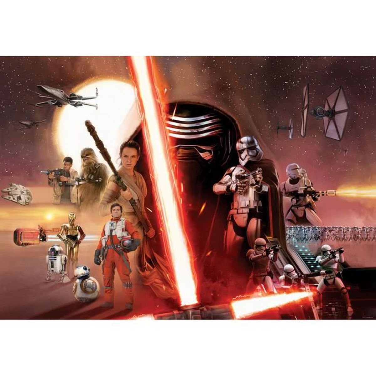 fresque murale star wars 104 x 152,5 cm – papier peint the force