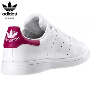 adidas stan smith blanc rose achat vente pas cher les soldes sur cdiscount cdiscount. Black Bedroom Furniture Sets. Home Design Ideas