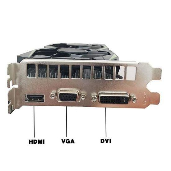 Carte graphique GTX1050Ti 4 Go Cartes graphiques DDR5 Ordinateur de bureau Carte graphique de jeu HD indépendante GTX1050Ti 4G