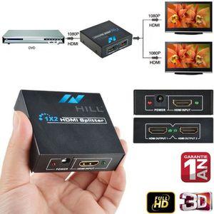 REPARTITEUR TV Novhill Splitter HDMI Répartiteur 2 Ports 1x2 avec