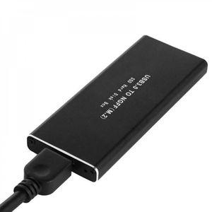 HOUSSE DISQUE DUR EXT. USB 3.0 à SATA NGFF M.2 B clé SSD Portable boîtier
