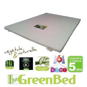 surmatelas m moire de forme 140x200 viscogreen achat vente sur matelas. Black Bedroom Furniture Sets. Home Design Ideas