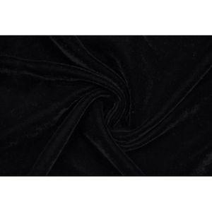 TISSU Tissu Velours Velvet Uni Noir -Au Mètre