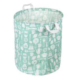 pliable Coton et lin Seau de stockage /à laver V/êtements Panier de rangement /à linge avec poign/ées enfants Jouets Panier de Rangement