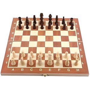 JEU SOCIÉTÉ - PLATEAU Jeu d'échecs Échiquier Bois avec Plateau Pliant Jo