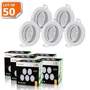 SPOTS - LIGNE DE SPOTS Lot de 50 Spots LED encastrable et orientable - Av