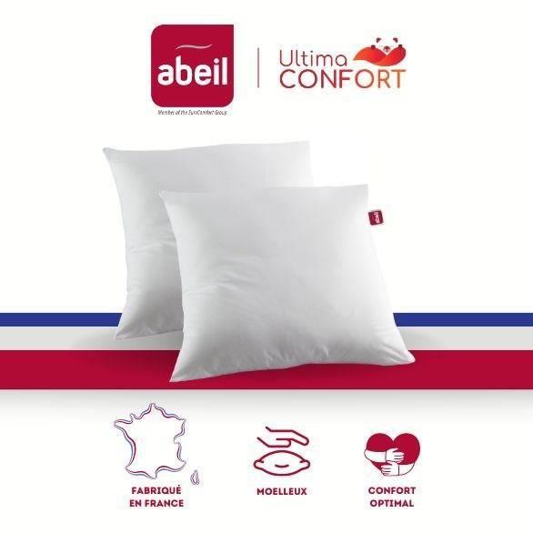 ABEIL Lot de 2 oreillers Ultima Confort® - 60 x 60 cm