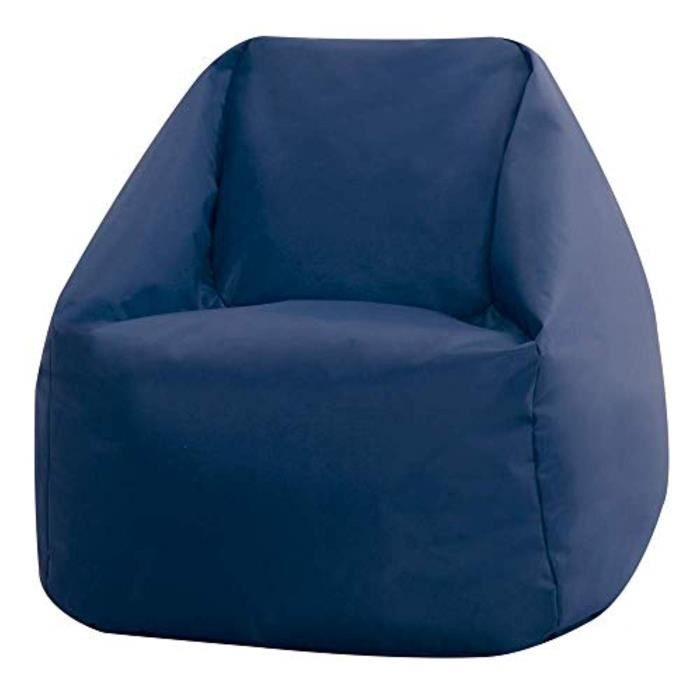 Coffret Multi-Jeux H5MA3 Mini Salut-Repos, Bleu marine, intérieur extérieur Bean Sacs pour les enfants, Chambre, Salon, Jardin