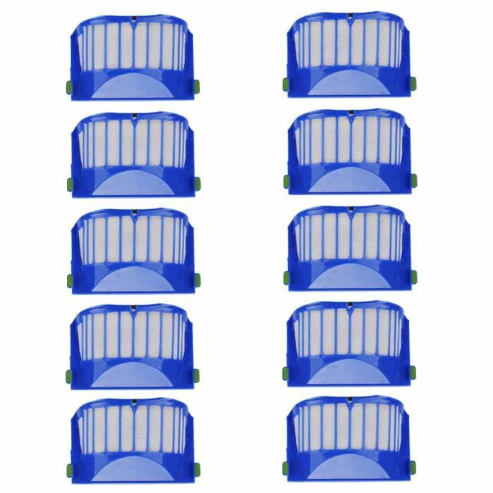 [10 pcs] Remplacer le Filtre pour IRobot Roomba 600 Series 605 620 630 632 650 651 660 Accessoires de Rechange Filtre