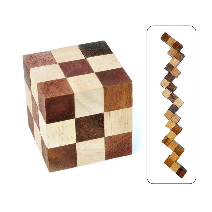 Logica Giochi art. SERPENT - CASSE-TÊTE LOGIQUE 3D - Difficulté 3-5 DIFFICILE - Casse-tête en bois