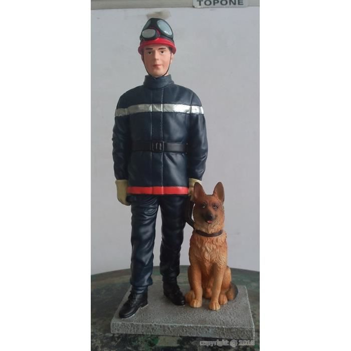 Figurine de décoration en résine : pompier et s…