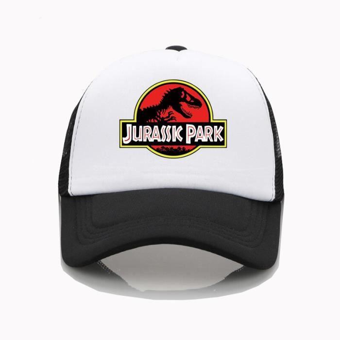 Casquette de baseball pour hommes et femmes, impression de motifs Jurassic Park, haute qualité, tendance d'été, nouveau [ABE01E2]
