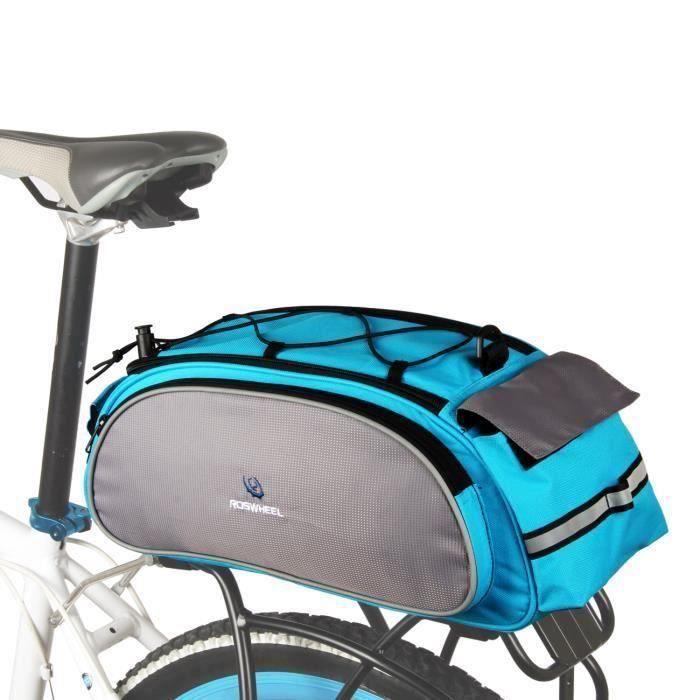 Roswheel Sac-Sacoche vélo Porte Bagages avec sangle d\'épaule + bande réfléchissante pour VTT, cyclisme, randonnée de vélo etc
