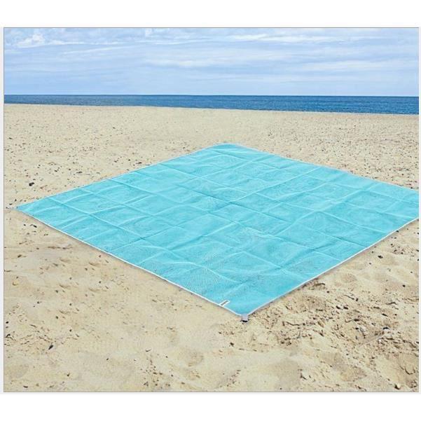 Plage tapis anti-sable,Tapis de Plage Anti Sable pour La Plage Pique-Nique Le Camping 200*200cm