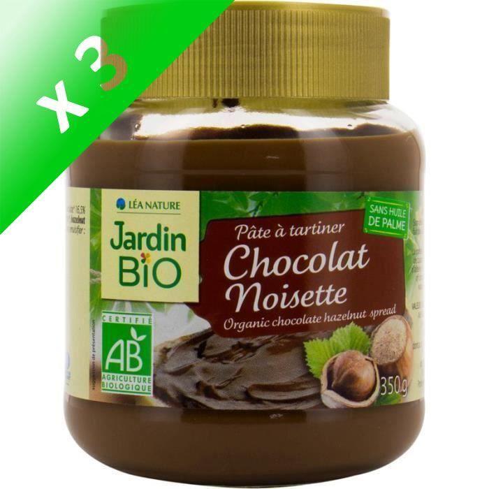 [LOT DE 3] Pâte à tartiner cacao 350 g Jardin Bio