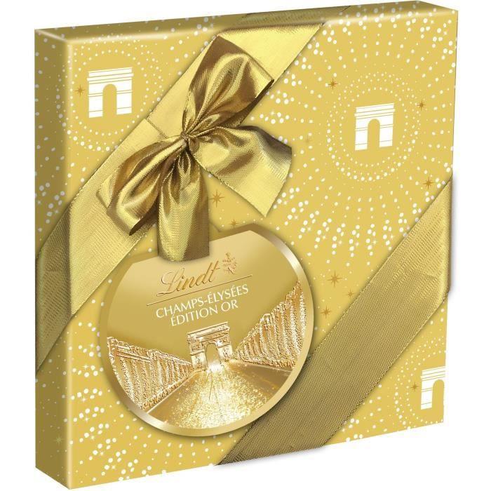 LINDT & SPRÜNGLI Champs-Elysées Edition Or Boîte cadeau - 237 g