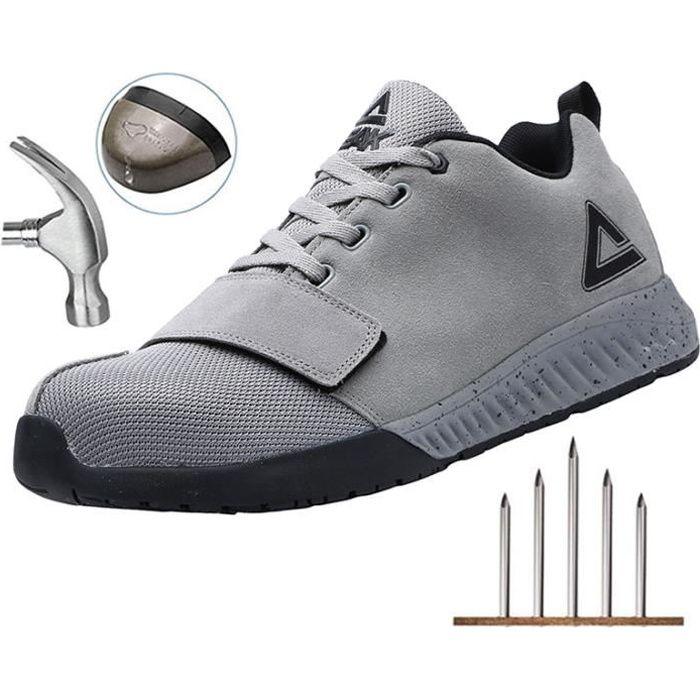 PEAK Chaussure de Securité Homme Femme Legere Confortable Chaussures de Travail Basket de Securite Homme Embout de Protection en Aci
