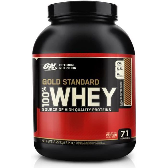 PROTEINES - 100 % WHEY PROTEIN GOLD STANDARD OPTIMUM NUTRITION - Chocolat - 2,27kg