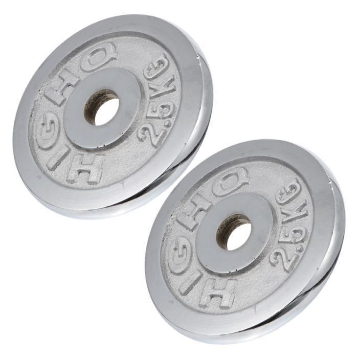2pcs Barbell Plaques à un trou de poignée de poids ) BARRE - HALTERE - POIDS