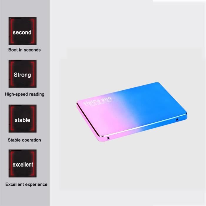 PRUMYA Disque SSD en plastique 240gb, 2,5 pouces