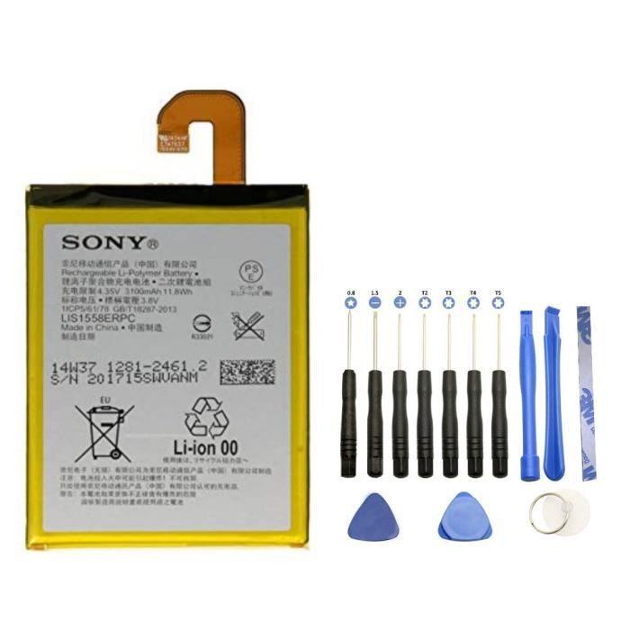 Batterie LIS1558ERPC pour Sony Xperia Z3 + Kit outils 13 pièces