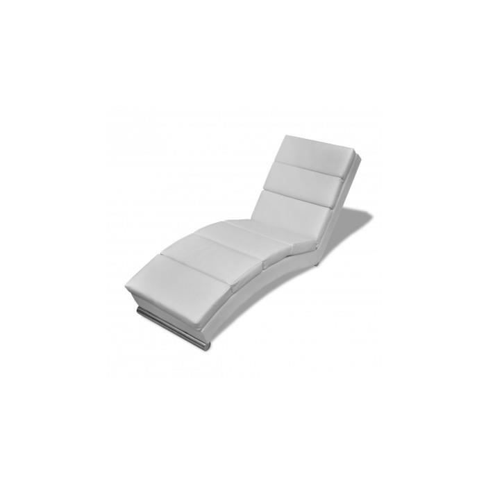 chaise longue blanche achat vente chaise longue chaise longue blanche cdiscount. Black Bedroom Furniture Sets. Home Design Ideas