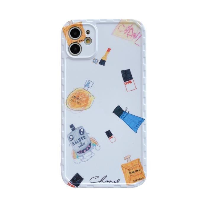 Housse Etui iPhone 8 Plus-7 Plus,Chanel Parfum Blanc Ultra Slim ...