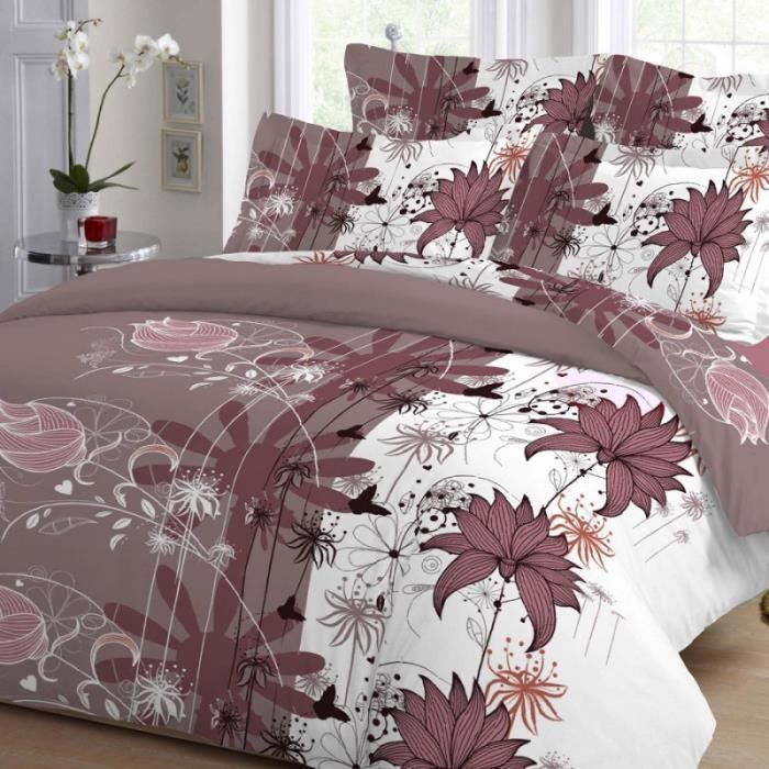 housse de couette lin rose achat vente housse de couette lin rose pas cher black friday le. Black Bedroom Furniture Sets. Home Design Ideas