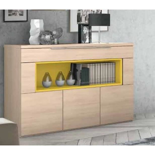 buffet bas moderne avec niche achat vente buffet bahut buffet bas moderne avec nic cdiscount. Black Bedroom Furniture Sets. Home Design Ideas