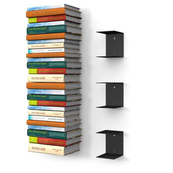 L 39 Tag Re Invisible Livres Lot De 3 Tag Res Noires Achat Vente Biblioth Que L 39 Tag Re