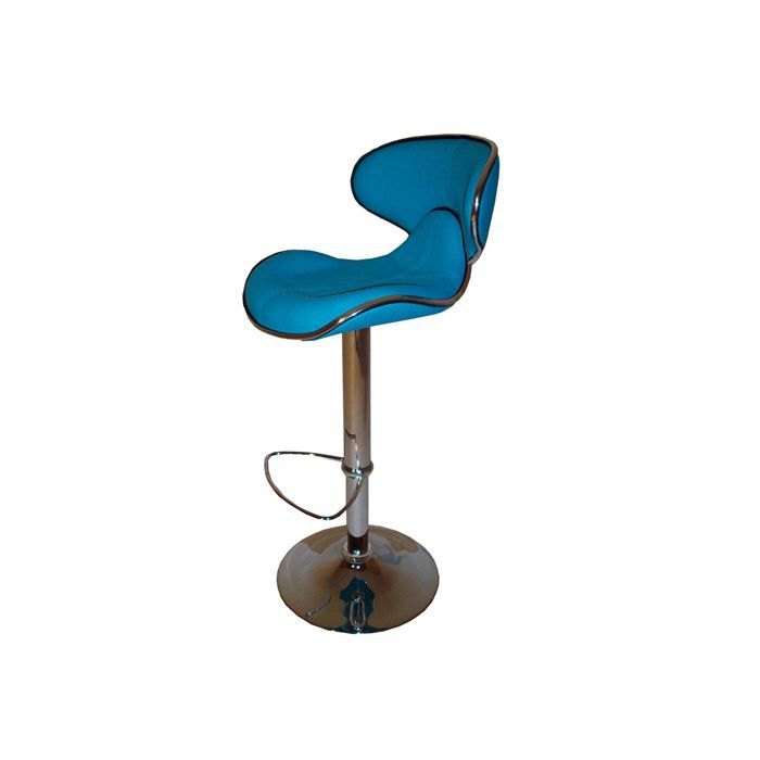 2 tabourets de bar moderne bleu turquoise torra achat. Black Bedroom Furniture Sets. Home Design Ideas