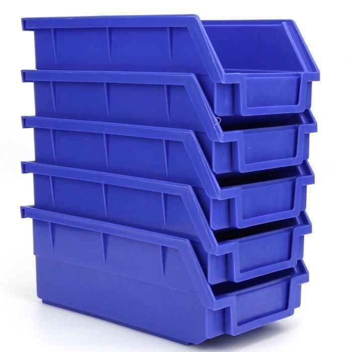 12x Noir Petit Fort en plastique Boîtes Pour Outils Garage Atelier Vis Boulons