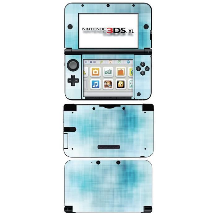 skin stickers pour nintendo 3ds xl sticker turquoise. Black Bedroom Furniture Sets. Home Design Ideas