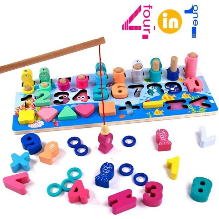 Jeux Educatifs Pour Enfant Jeu De Magnetique Peche Puzzle Billes En Bois Jeux Societe Poissons Educatif Jouet Enfant 3 4 5 6 Ans Achat Vente Jeu D Apprentissage Cdiscount
