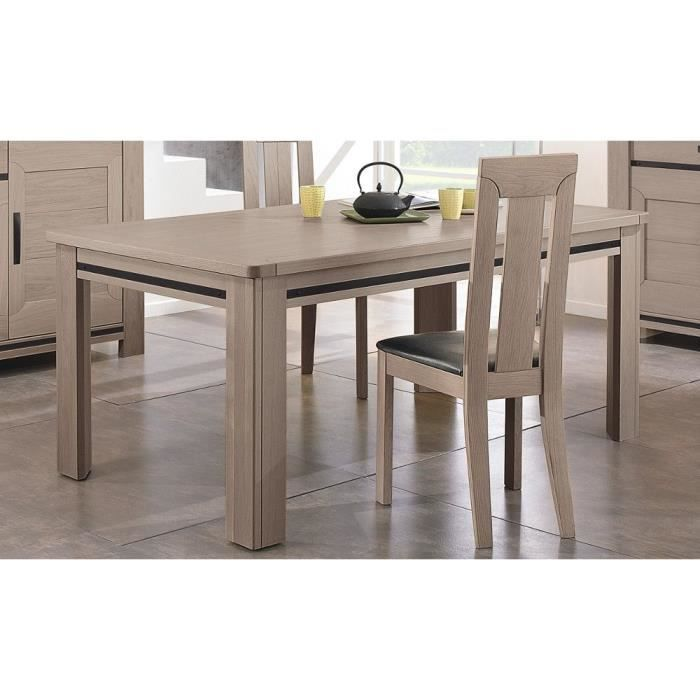 Table haute l 180 aliz ch ne gris achat vente table for Table haute a manger