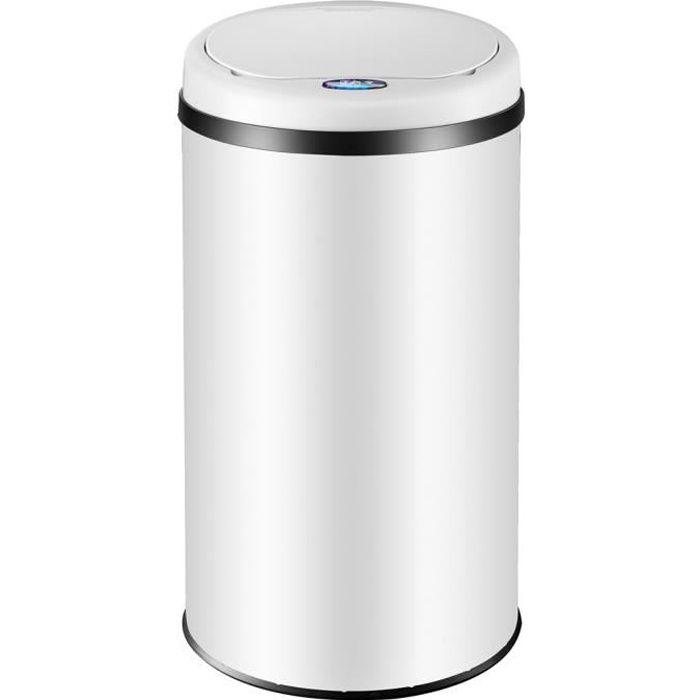 POUBELLE - CORBEILLE Poubelle automatique en inox 56 litres avec capteu